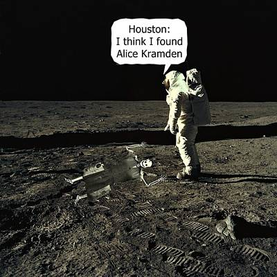 Modern Sophistication Beaches And Waves - Alice Kramden on the Moon by David Dehner