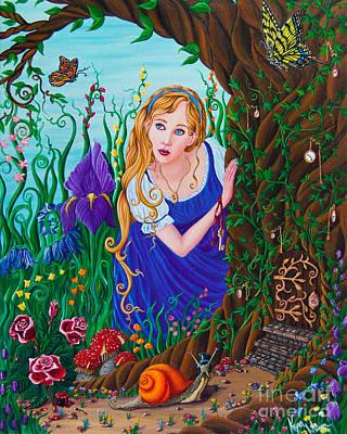 Alice In Wonderland Painting - Alice by Kyra Wilson