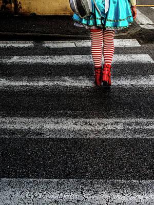 Sidewalk Photograph - Alice by Massimo Della Latta