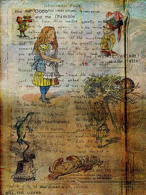 Dodo Digital Art - Alice's Adventures by Sarah Vernon