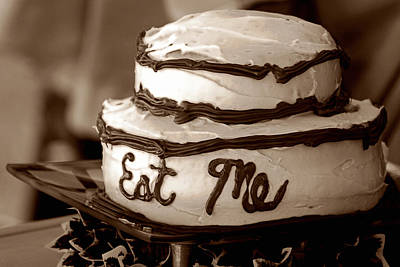 Double Layer Photograph - Alice's Eat Me Cake  by Trish Mistric