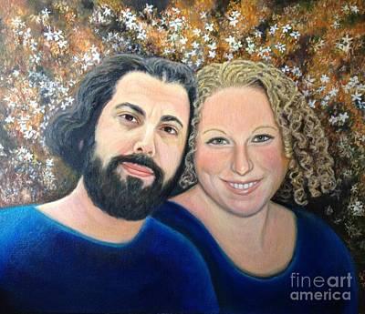 Alicia And Saar Wedding Portrait Art Print by Judith Zur