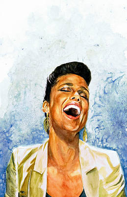 Grammy Winners Painting - Alicia Keys by Adrienne Norris