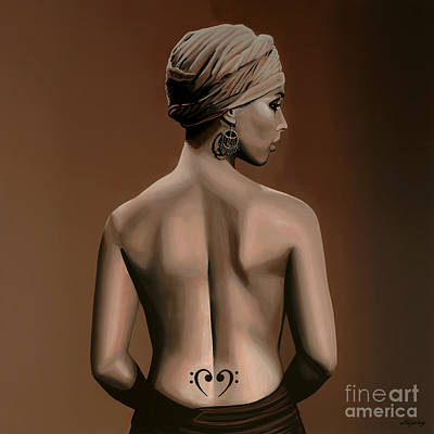 Hip Painting - Alicia Keys  by Paul Meijering