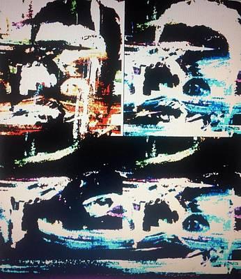 Intergalactic Space Painting - Alien Abduction by Judith Desrosiers