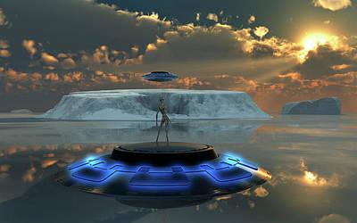 Alien Activity In The Antarctic, Site Art Print