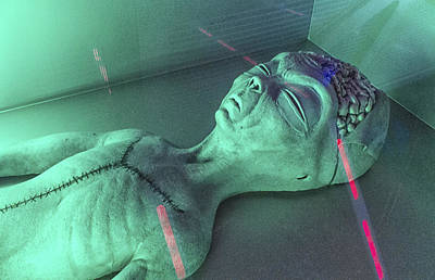 Alien Autopsy Art Print by Gary Warnimont