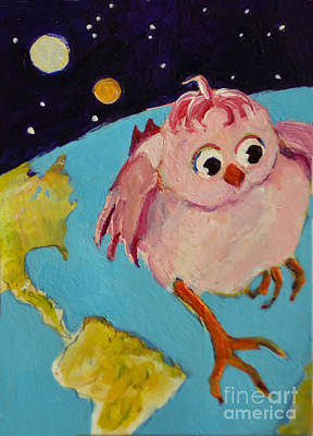 Painting - Alien Bird by Diane Ursin