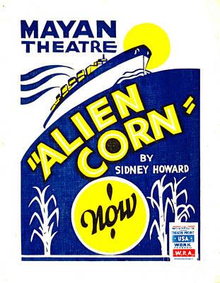 Screen-print  - Alien Corn 1938 by Padre Art