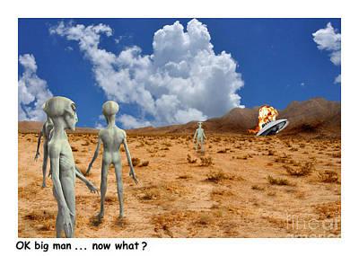 Alien Crash Ver - 2 Art Print