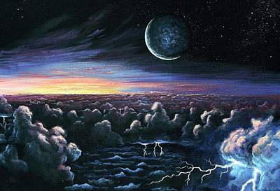 Lightning Photograph - Alien Dawn by Richard Bizley
