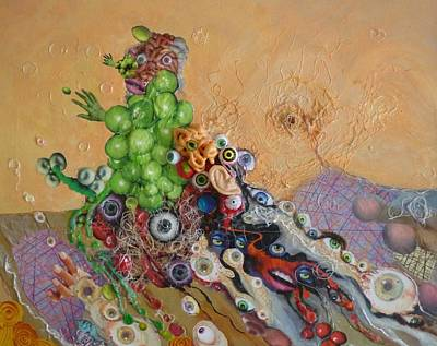 Mixed Media - Alien Dog Pile by Douglas Fromm