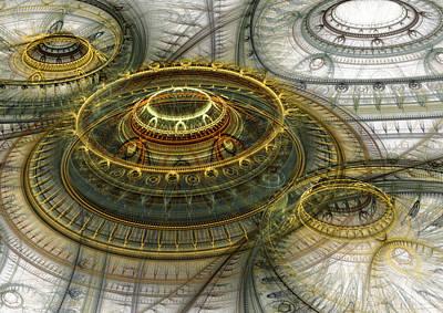 Digital Art - Alien Dome by Martin Capek