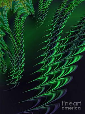 Artistic Digital Art - Alien Encounter by John Edwards