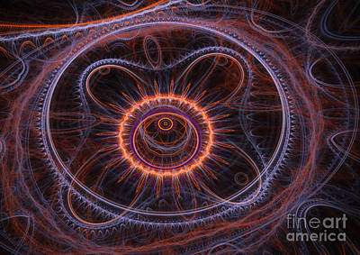 Alien Flower Print by Martin Capek