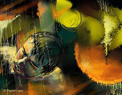 Abstract Digital Painting - Alien by Francoise Dugourd-Caput