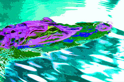 Abstract Photograph - Alien Gator by Norman Johnson