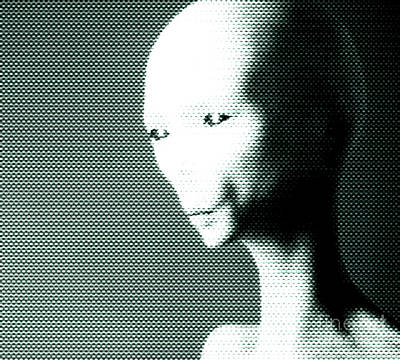Science Fiction Royalty-Free and Rights-Managed Images - Alien Grey Pattern by Pixel  Chimp