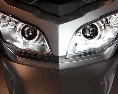 Alien Headlights  Can Am Spyder Motorcycle Art Print