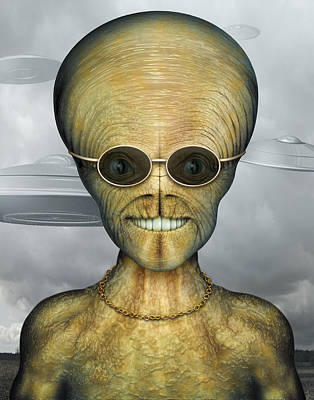 Digital Art - Alien by James Larkin