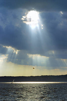 Sailboats Photograph - Alien - Lake Geneva Wisconsin by Bruce Thompson