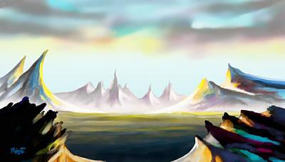 Mist Painting - Alien Land by Anthony Mwangi