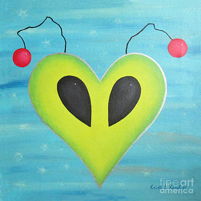 Painting - Alien Love by Kristi L Randall