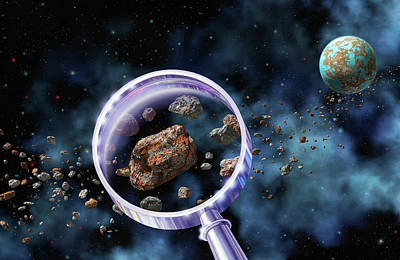 Organism Wall Art - Photograph - Alien Microbes On Meteorites by Lynette Cook/science Photo Library