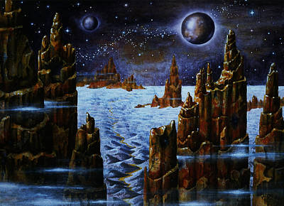 Painting - Ice Planet  by Hartmut Jager