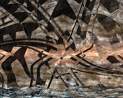 Digital Art - Alien Petroglyph by Judi Suni Hall