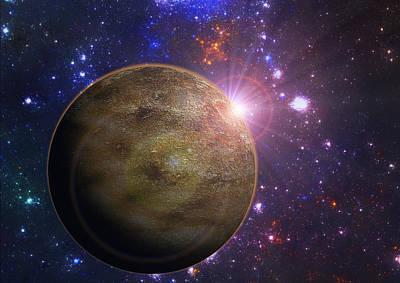 Digital Art - Alien Planet by Martin Capek