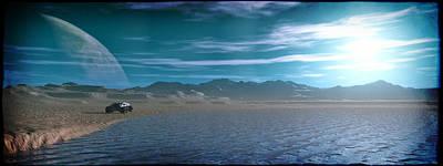 Digital Art - Alien Planet... by Tim Fillingim