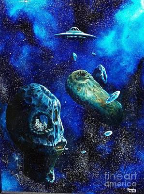 Alien Space Hideout Art Print by Murphy Elliott