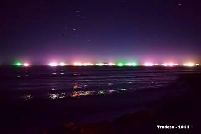 Malibu Mixed Media - Alien Spacecraft Off The Coast Of Malibu by Tommi Trudeau