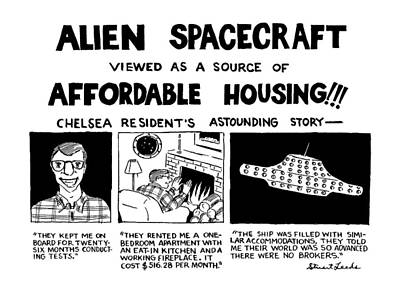 Affordable Drawing - Alien Spacecraft Viewed As A Source Of Affordable by Stuart Leeds