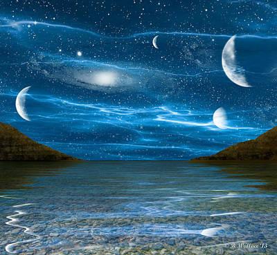 Alien Waterscape Art Print by Brian Wallace