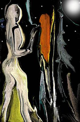 Universe Digital Art - Alien Women In The Sky by Sherri  Of Palm Springs