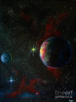 Cosmos Painting - Alien Worlds by Murphy Elliott
