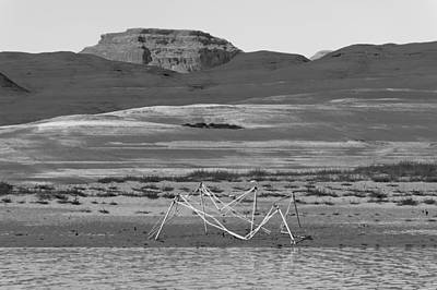 Photograph - Alien Wreckage Bw - Lake Powell by Julie Niemela
