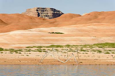 Photograph - Alien Wreckage - Lake Powell by Julie Niemela