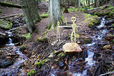 Photograph - Aliens At Liberty Creek by Ben Upham III