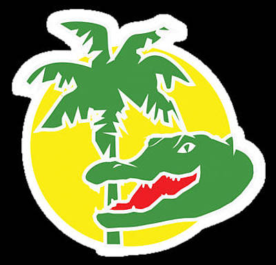 Car Mascot Digital Art - Aligator Logo Sticker by Jeanette K