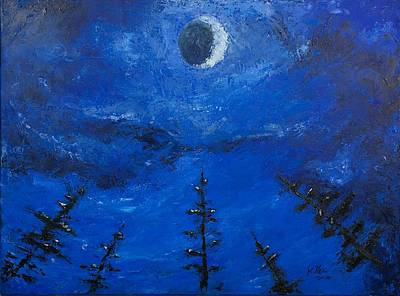 Pallet Knife Painting - Alignment by William Killen