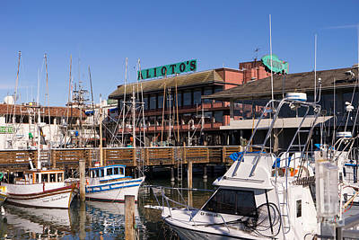 Photograph - Aliotos Restaurant Restaurant Fishermans Wharf San Francisco California Dsc2039 by Wingsdomain Art and Photography