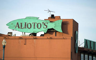 Photograph - Alioto's Sign Fisherman's Wharf 2 by Christopher Winkler