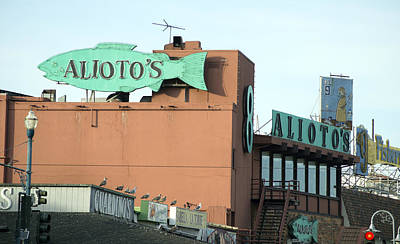 Photograph - Alioto's Sign Fisherman's Wharf by Christopher Winkler