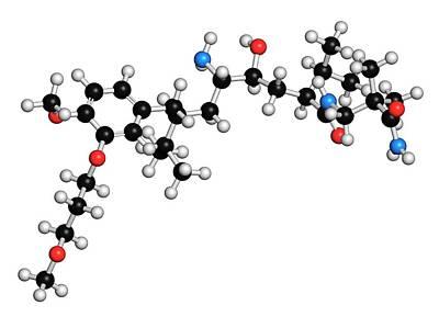 Molecule Photograph - Aliskiren Hypertension Drug Molecule by Molekuul
