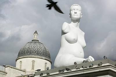 Pregnant Woman Photograph - Alison Lapper Pregnant Sculpture by Ashley Cooper