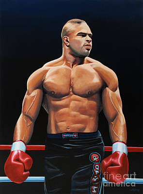 Fighting Painting - Alistair Overeem by Paul Meijering