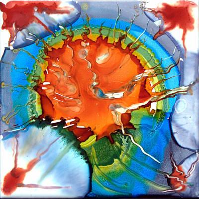 Ceramic Art Tile Painting - Alive by Judy Swircenski